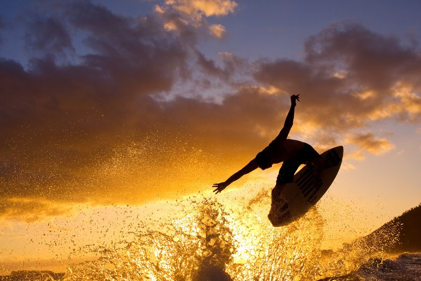 11928379 - sunset surfer