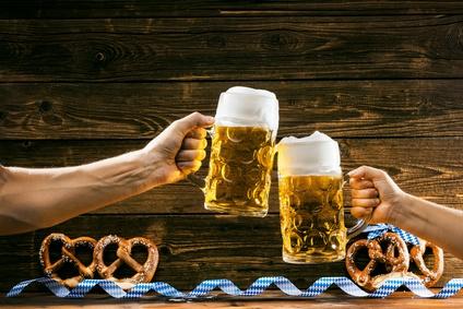 Bier, Masskrug, Oktoberfest, Brez'n, Bayerische Gemütlichkeit