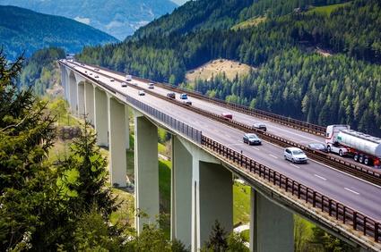 Reiseverkehr auf Brennerautobahn in Sdtirol