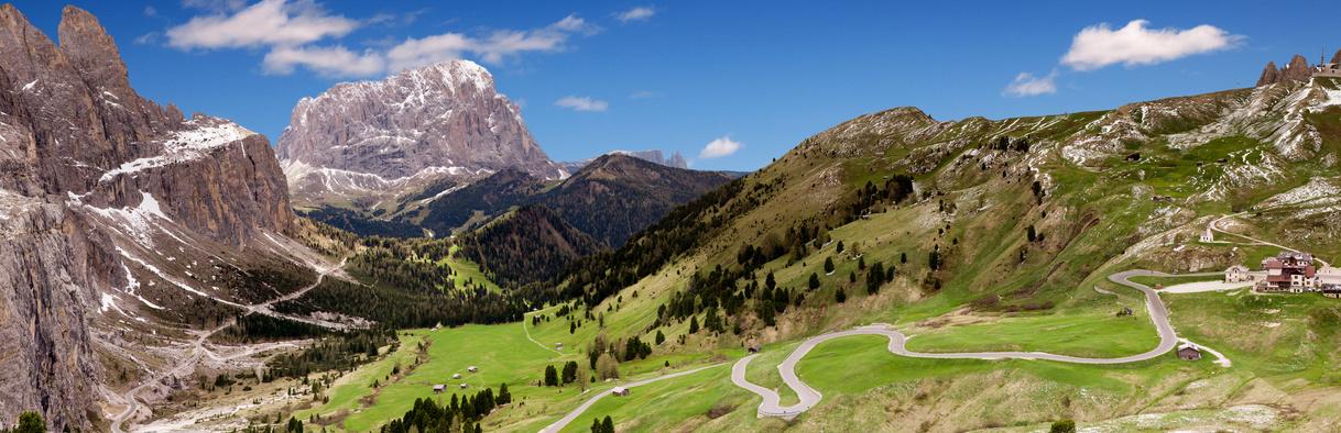 Straße, Bergdörfer, Südtirol, Dolomiten