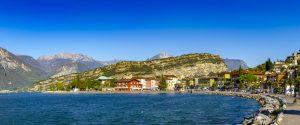 Italien, Gardasee, Ufer, Alpenpanorama
