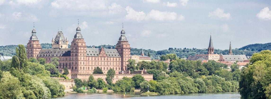 Frankfurt Johannisburg palace, Aschaffenburg Germany Panorama