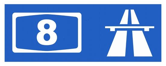 A8-Symbol mit Reflektierung