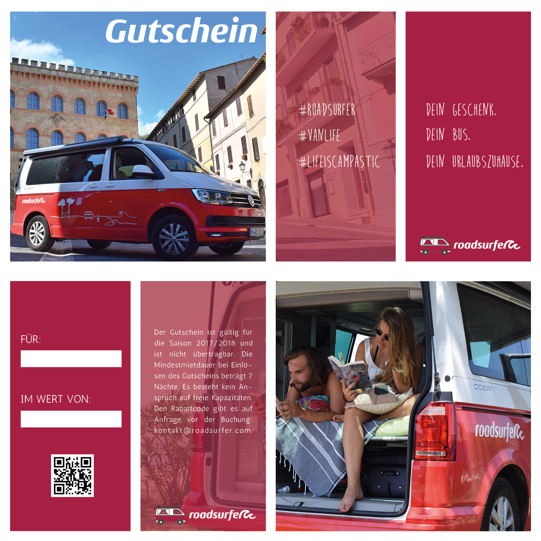 roadsurfer Gutschein VW Camper mieten