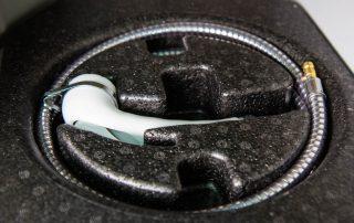 VW T6 California Ocean Duschschlauch verstaut für Außendusche