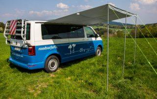 VW T6 Camper Einsteiger Sonnensegel in Kedderschiene