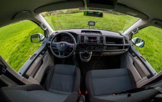VW T6 Camper Einsteiger Fahrerraum mit 2er Sitzbank vorne