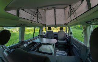 VW T6 California Beach Heckklappe mit Schlafauflage und Kofferraum