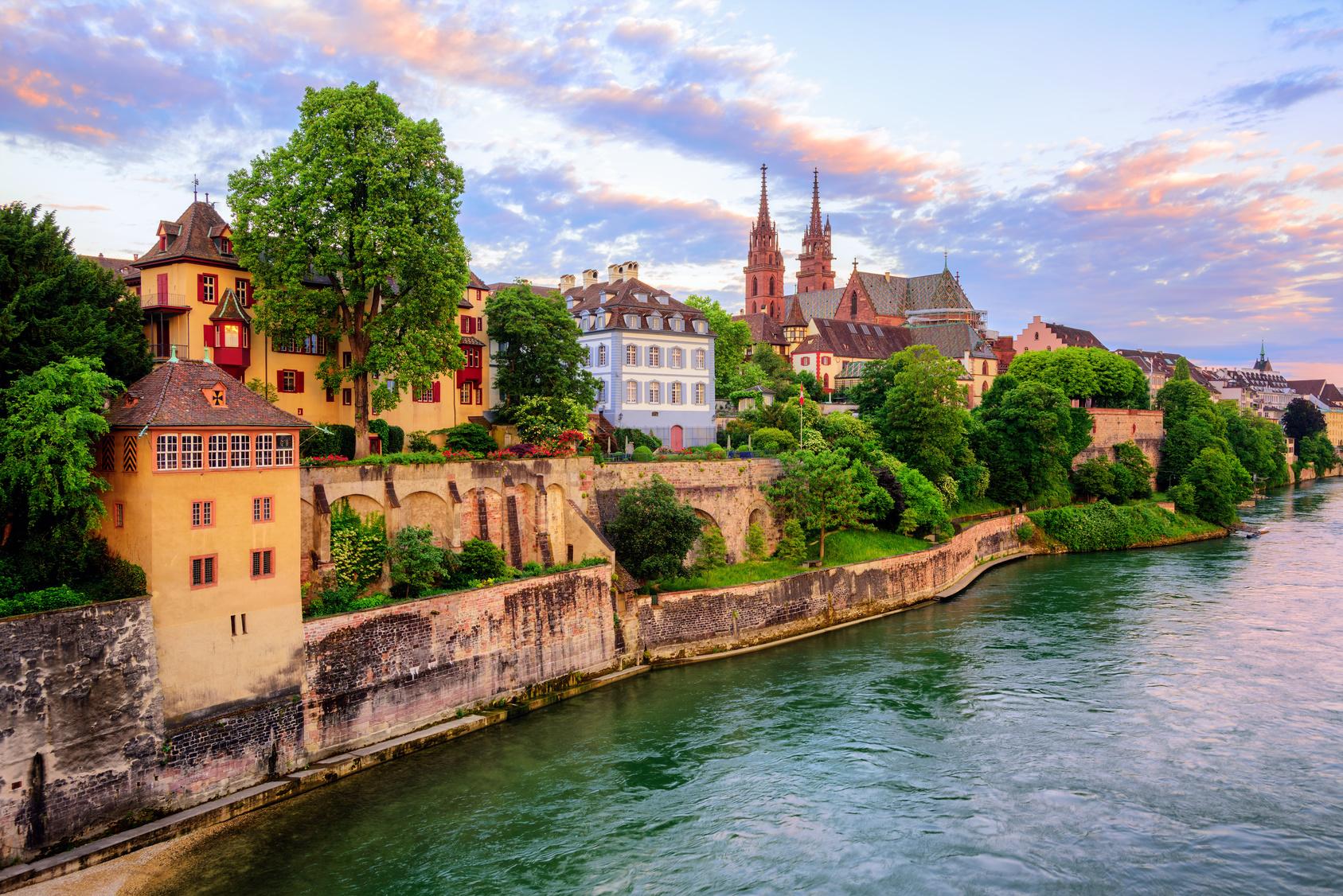 Blick auf die Altstadt von Basel