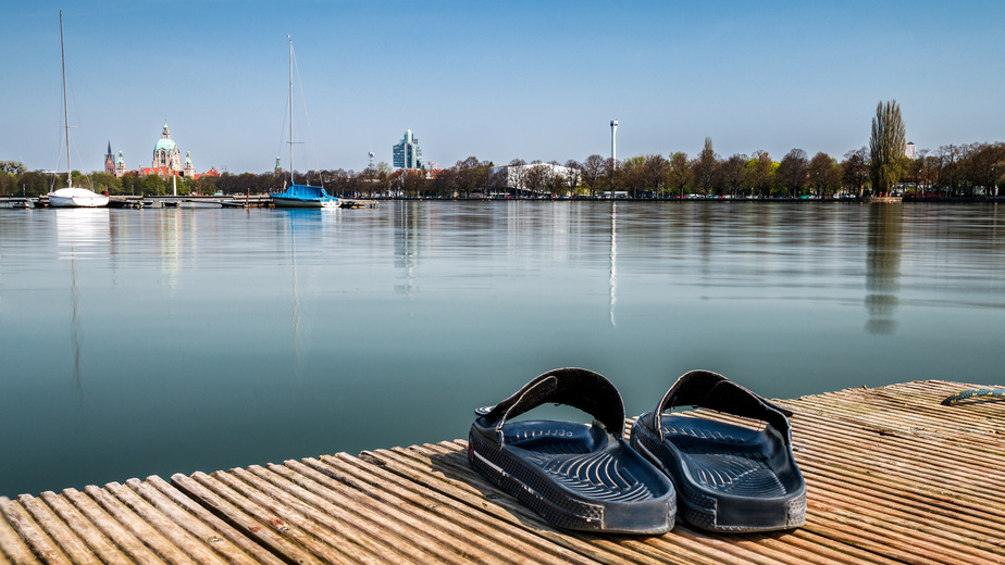 Badesaison am Maschsee in Hannover