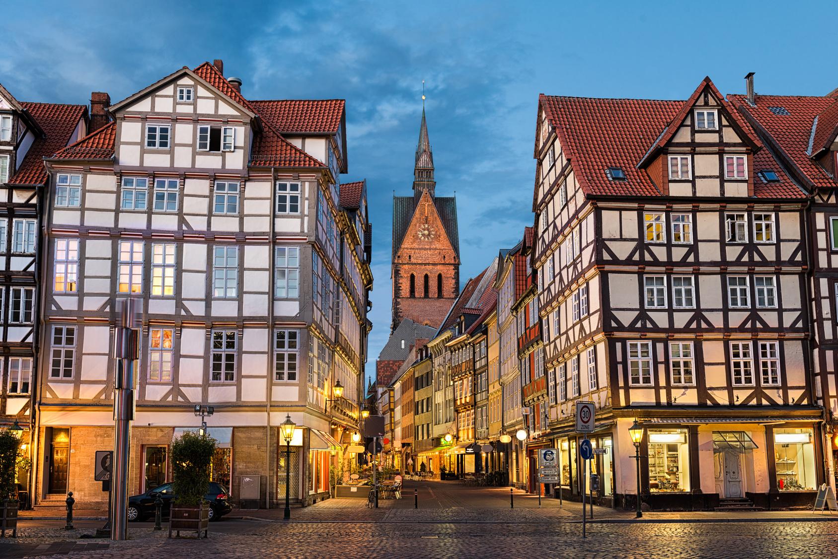 Marktkirche und Altstadt von Hannover.