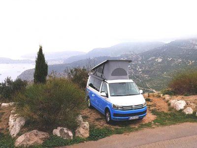 Stellplatz mit Aussicht in der Nähe von Monaco