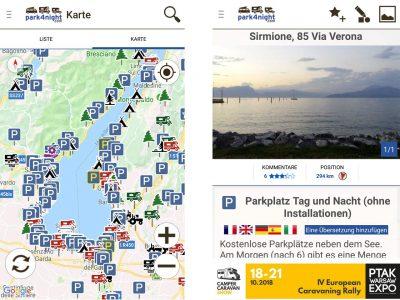 Stellplatz finden: Stellplätze rund um den Gardasee und Detailbeschreibung eines Platzes