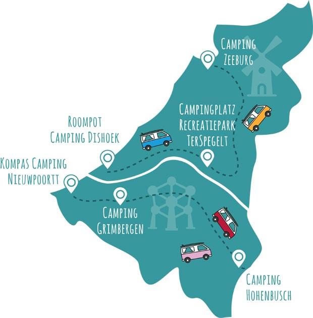 roadsurfer-Campingplätze Belgien & Niederlande