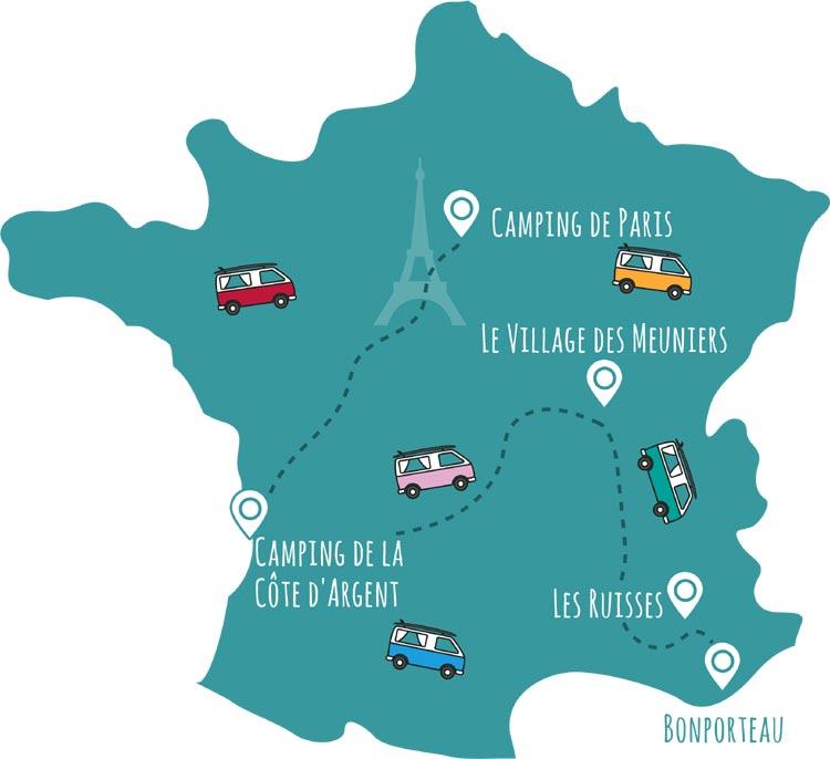 roadsurfer-Campingplätze Frankreich