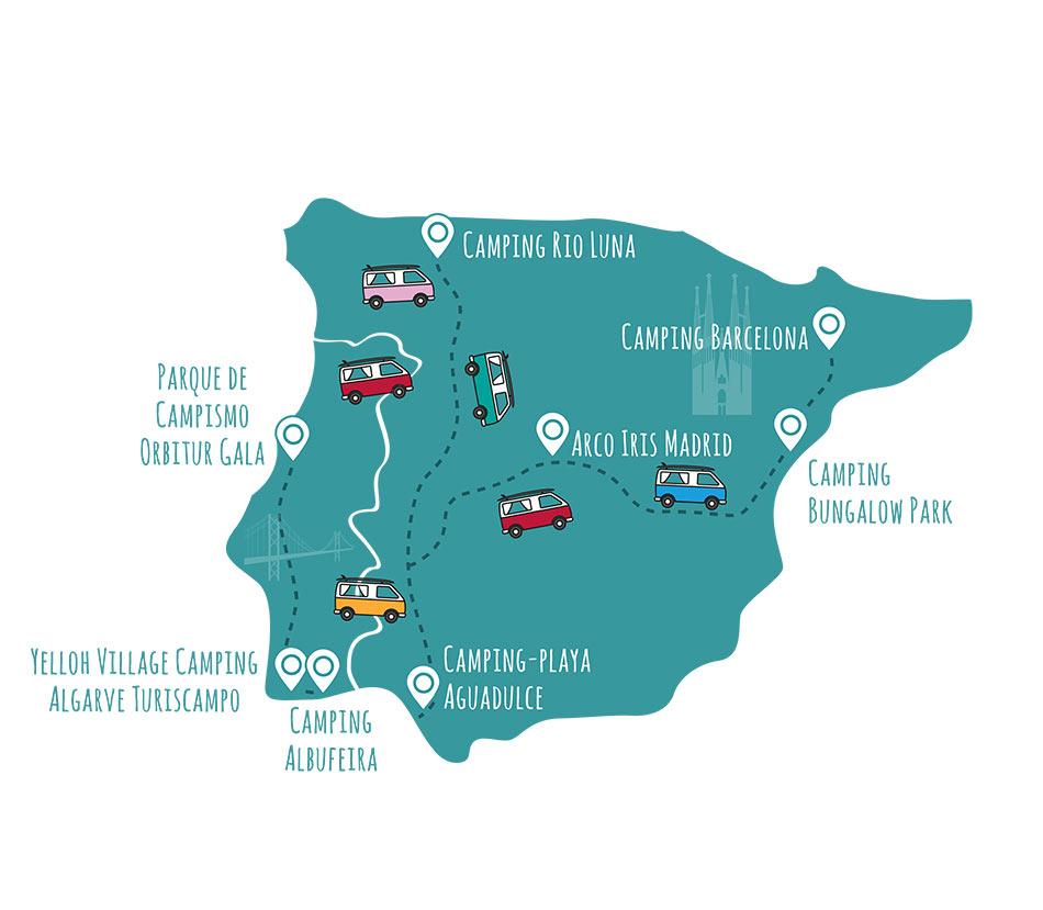 roadsurfer-Campingplätze Spanien & Portugal