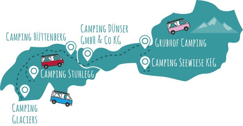 roadsurfer-Campingplätze Schweiz & Österreich