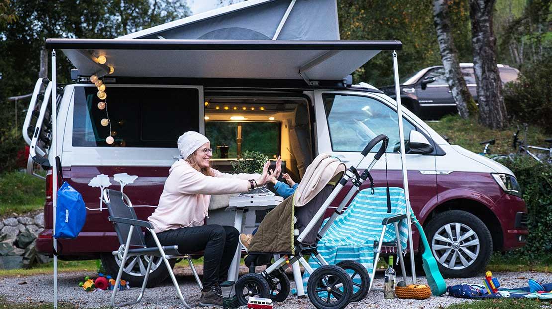 Campen mit Baby