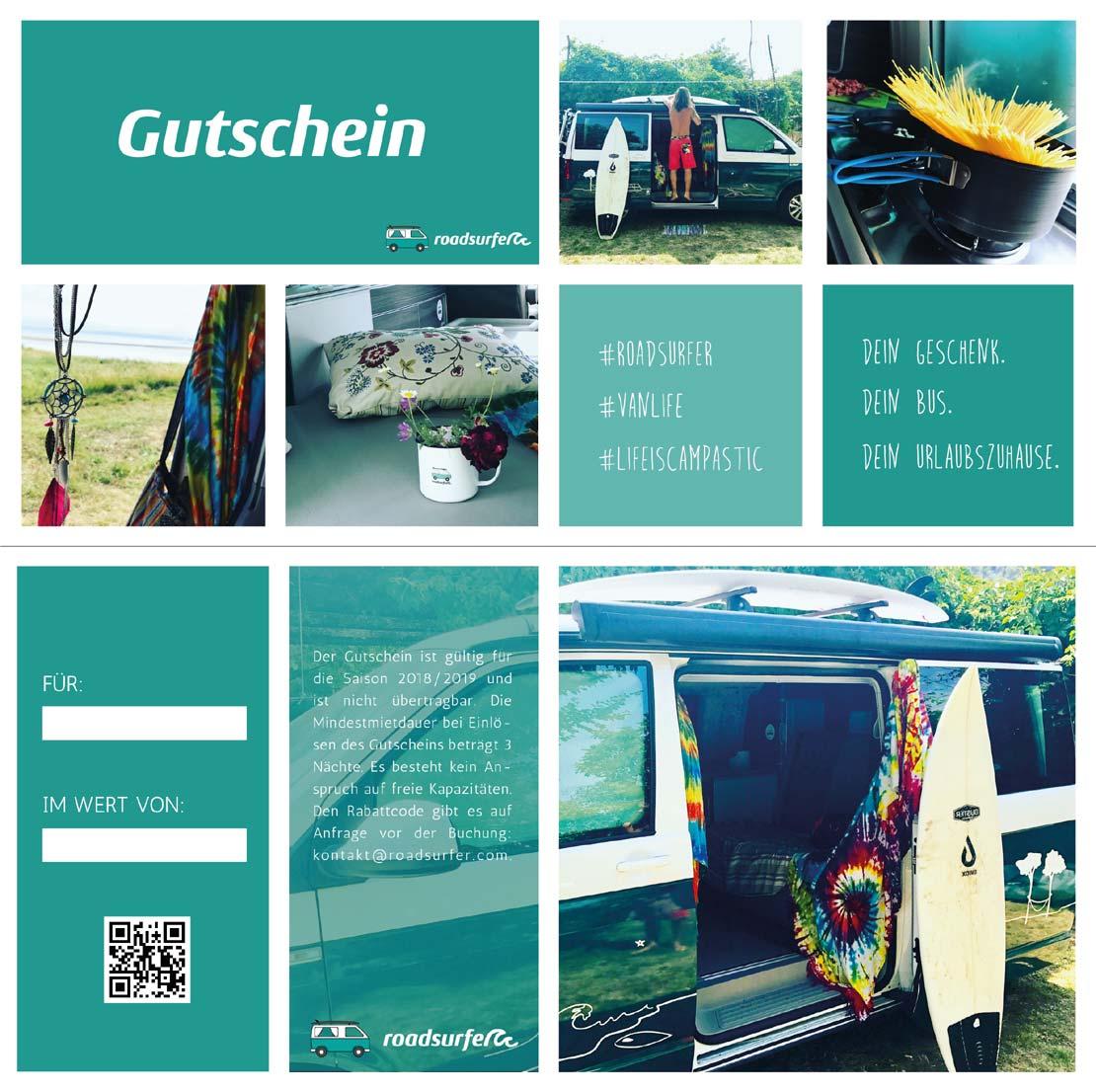 Camperreise Gutschein roadsurfer