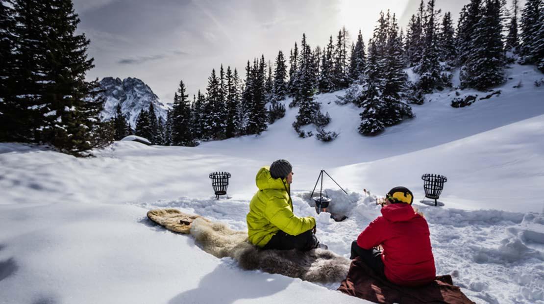 Camping Winter Skiurlaub Schnee
