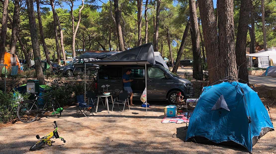 Camping auf Inseln Kroatien Losinji