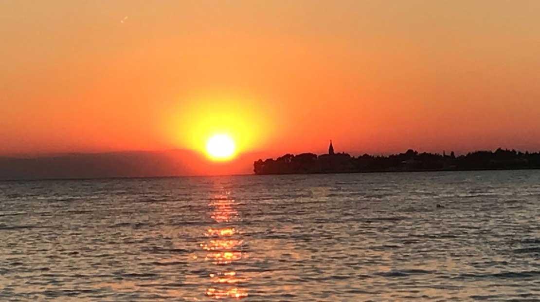 Camping in Istrien Sonnenuntergang