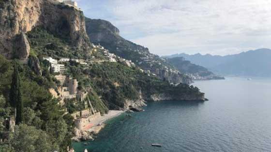 Camping mit Kindern in Süditalien Meer Panoram