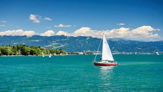 Campingbus mieten Konstanz Bodensee Segelschiff