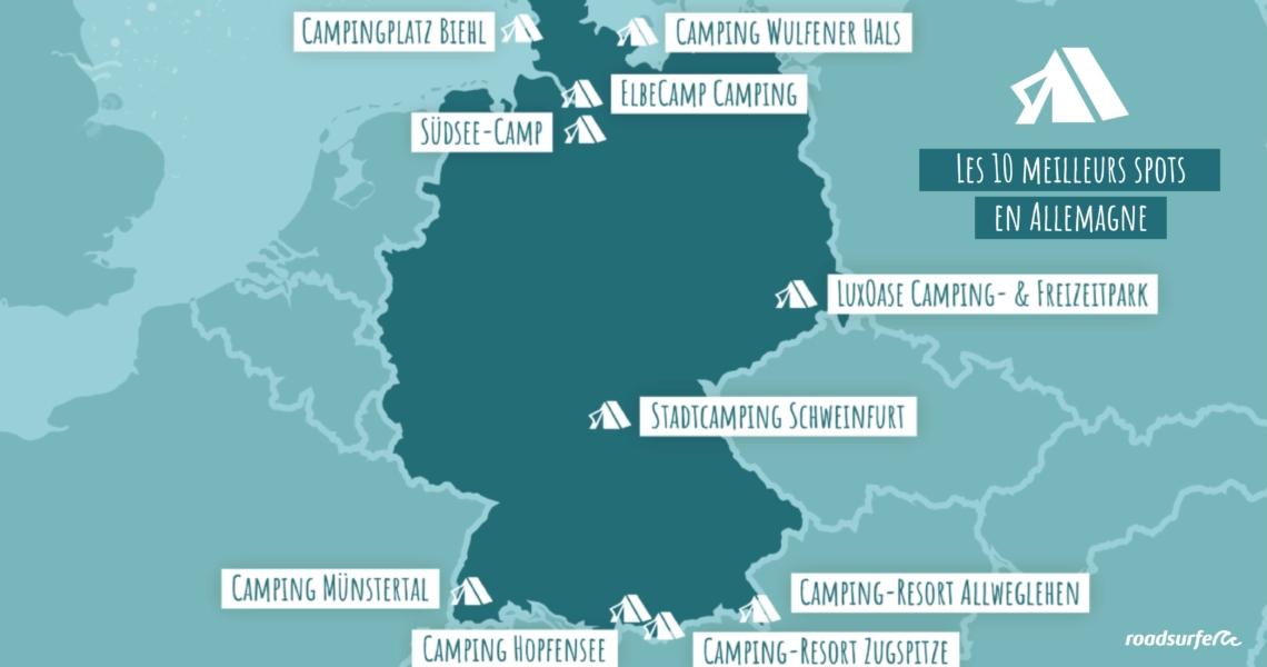 10 meilleurs spots en Allemagne