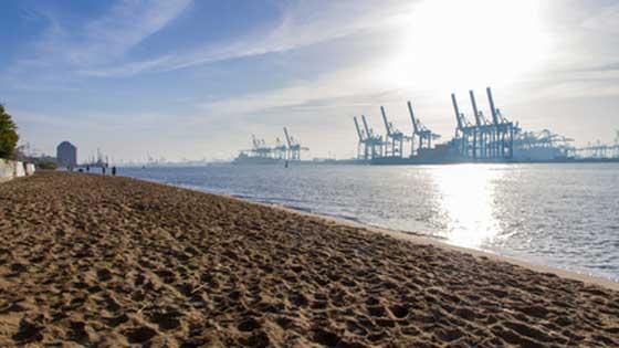 Location campervan Hambourg plage