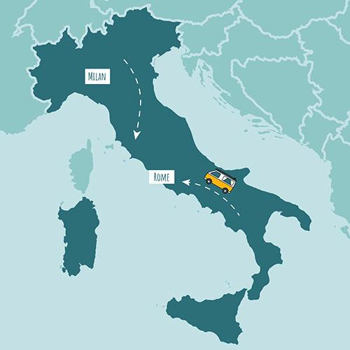 Location d'un van en Italie