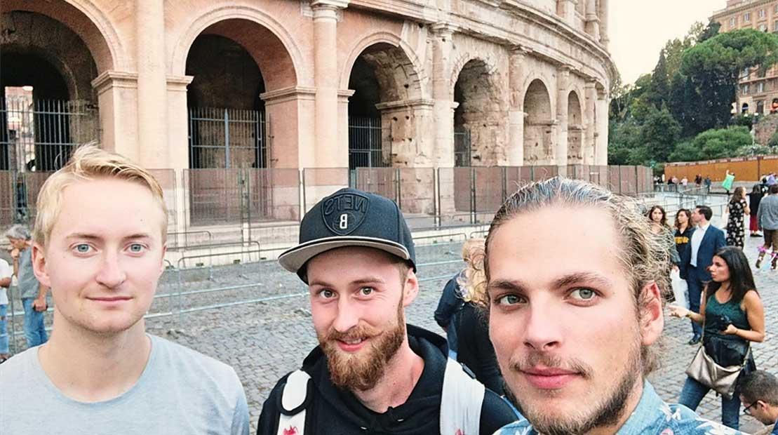 Tripulación del roadtrip a Italia
