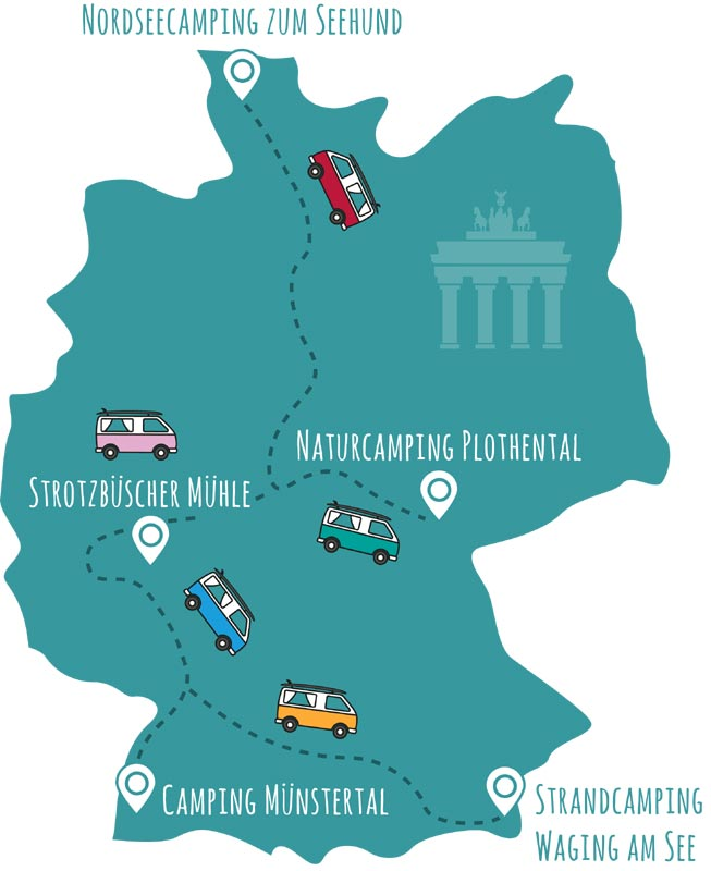 Top 55 Campingplätze Deutschland