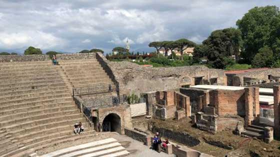Visite de Vésuve et Pompei