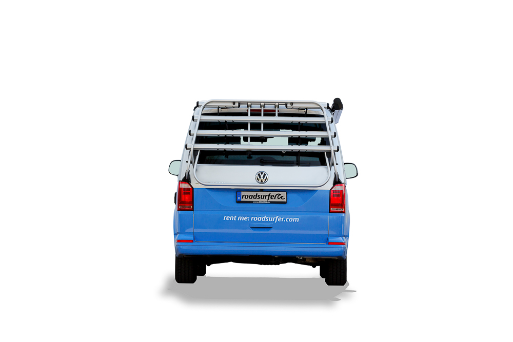 VW California Ocean mieten Dog Suite rear view