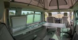 VW T6 California Ocean hire interior-Surfersuite