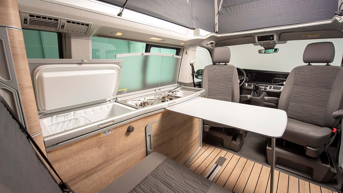 Alquilar VW California Ocean T6.1 Interior