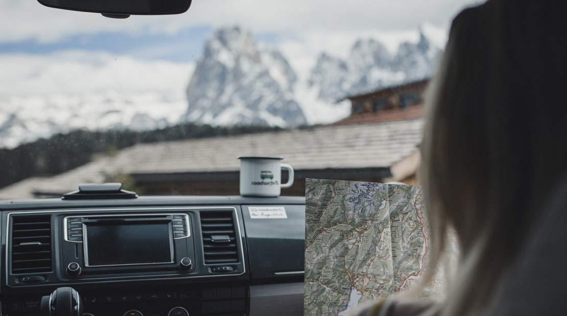 Mit Bulli über die Alpen