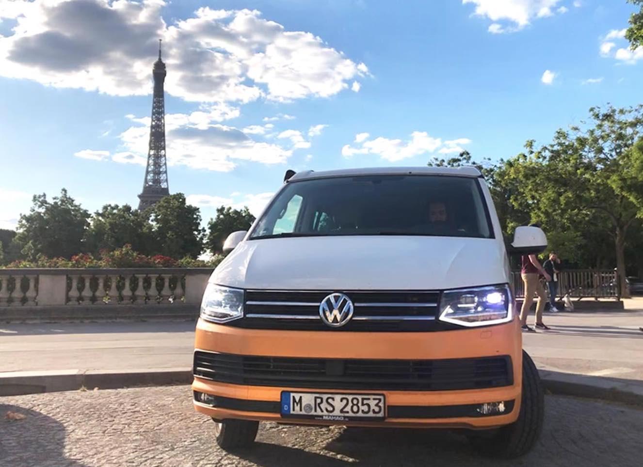 Camping à Paris en van aménagé