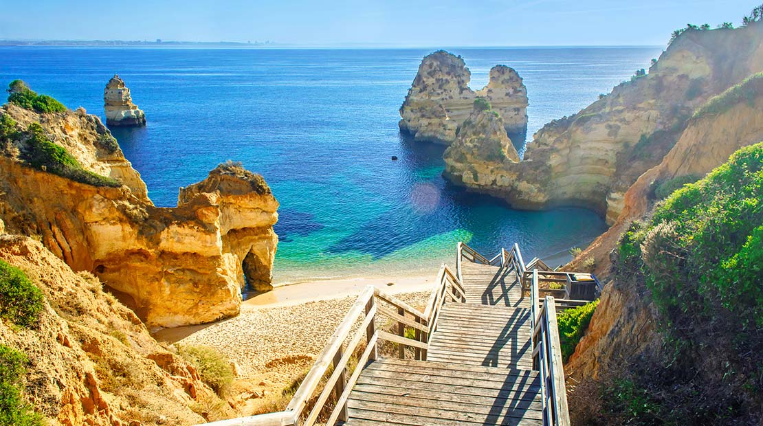 Campings au Portugal : plage en Algarve