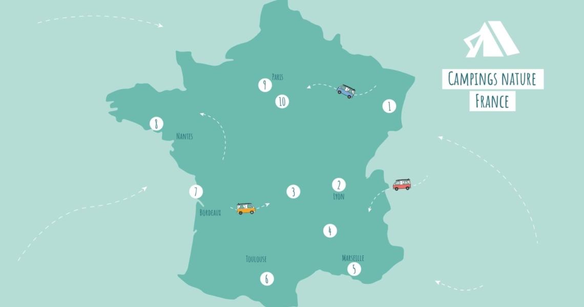 "Nos coups de coeur ""Campings Nature"" en France"