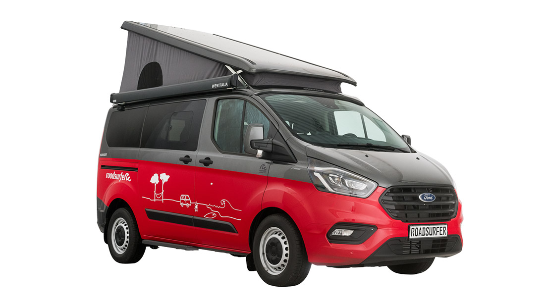 Ford Nugget With Pop Up Roof Hire Campervan Hire Roadsurfer Com