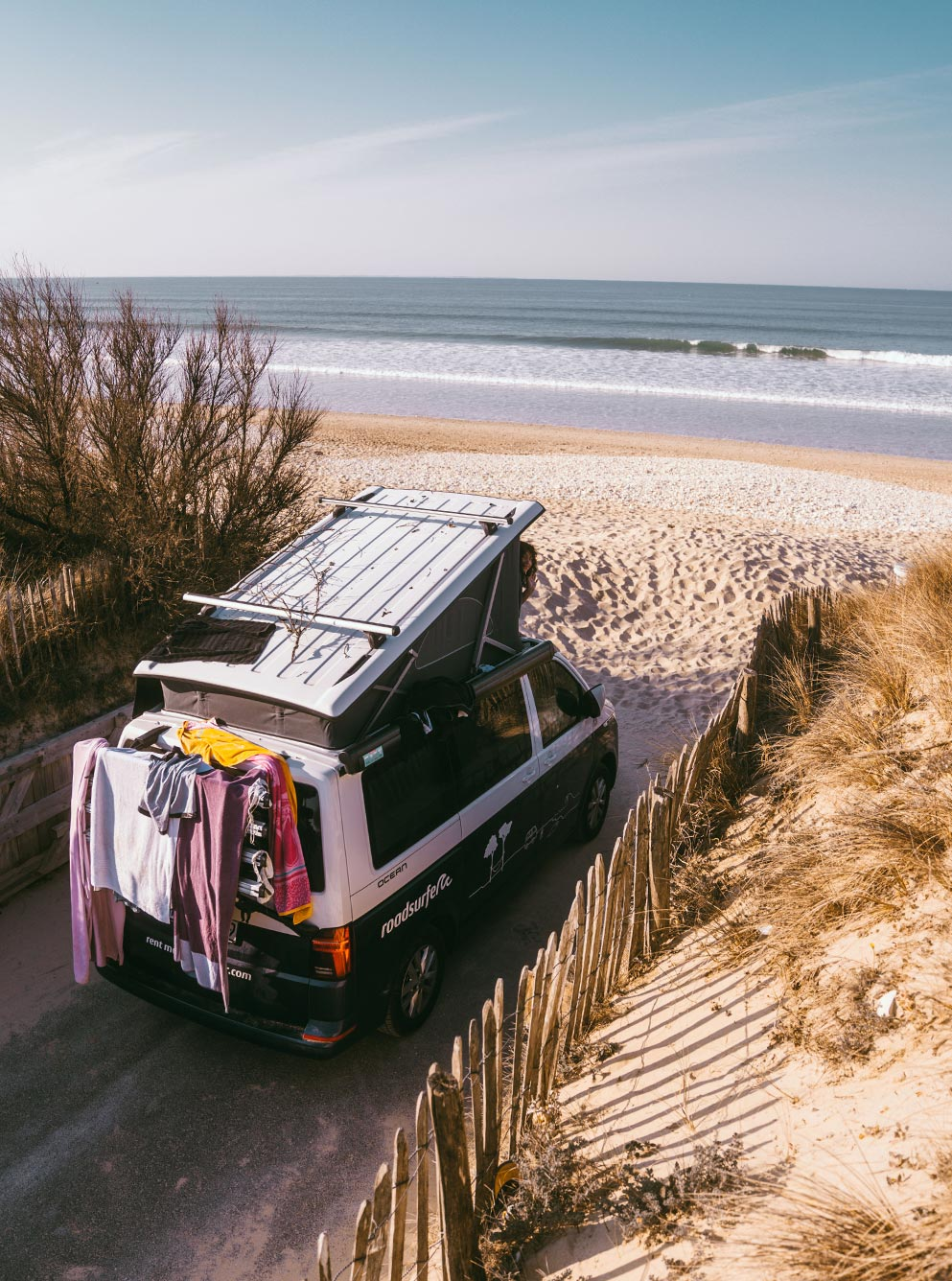 campervan at the beach