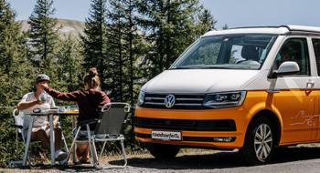 coffee break and campervan