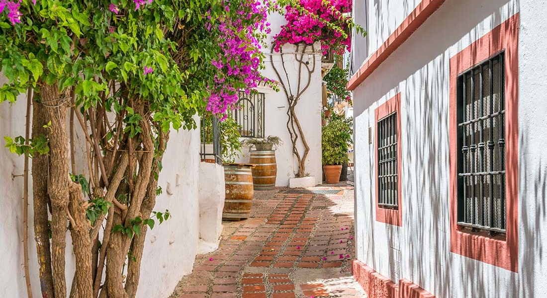 Visiter Málaga - Maisons blanches