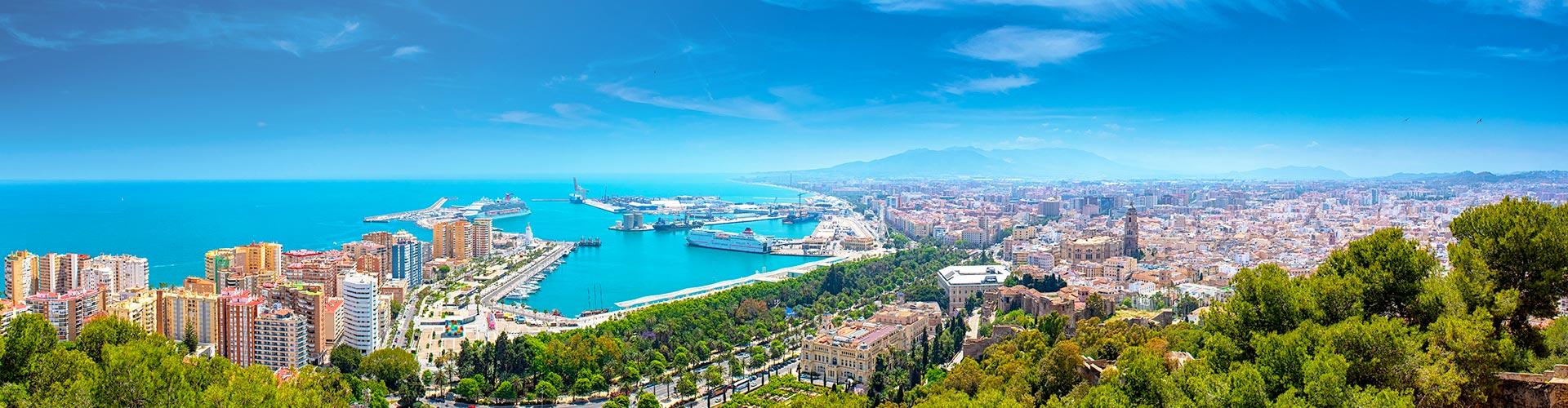 panorama view of Malaga