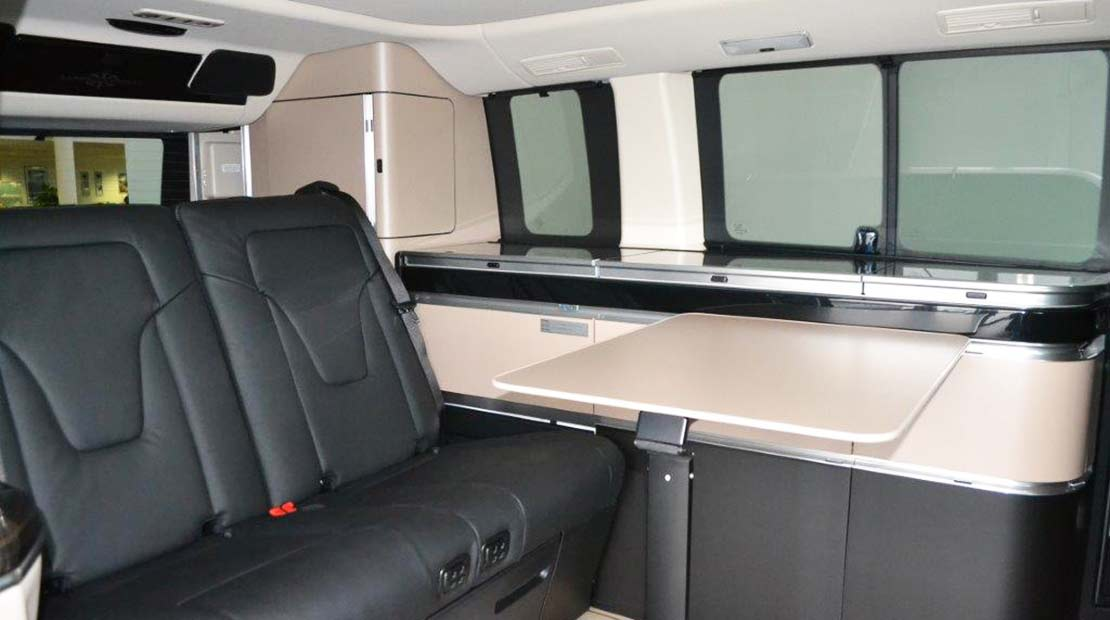 mercedes marco polo hire interior view back seat