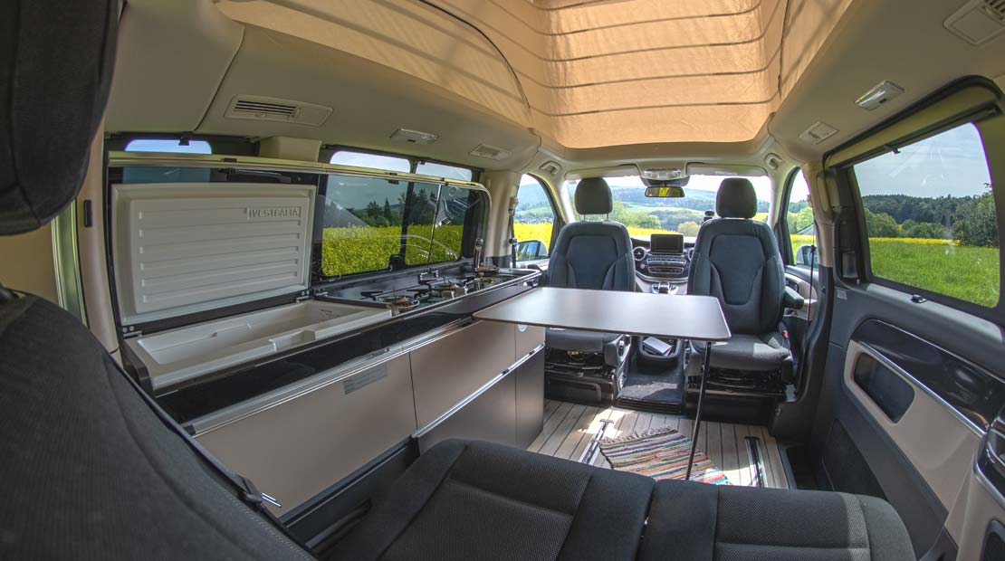 Mercedes Marco Polo camper interior