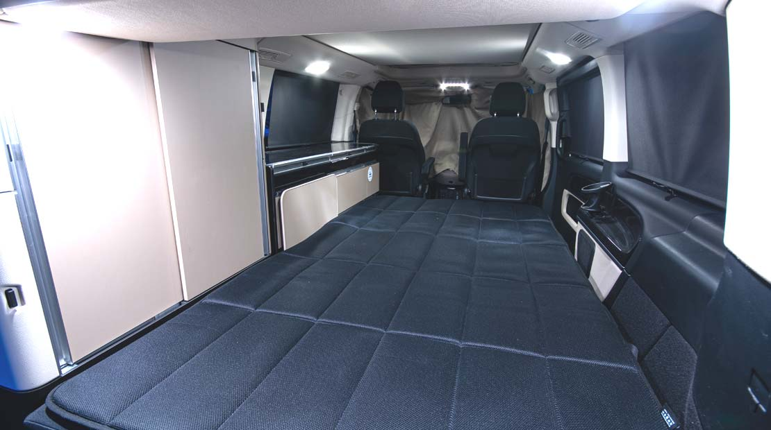 Mercedes Marco Polo sleeping area