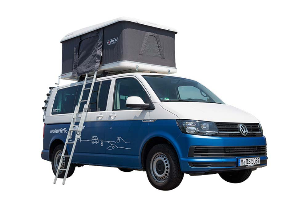 Rent a VW Camper with a roof top tent